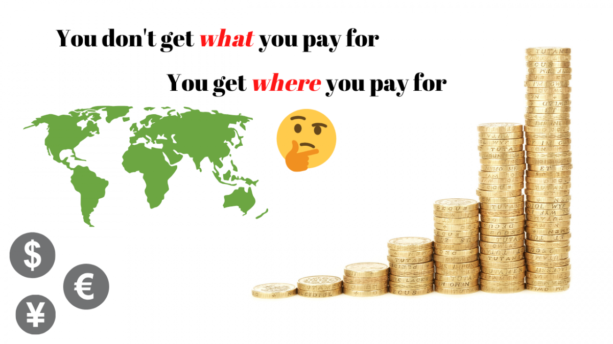 You don't get what you pay for, you get where you pay for- How to get best deals